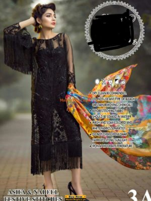 Asifa and Nabeel Luxury Embroidered Organza Collection Replica