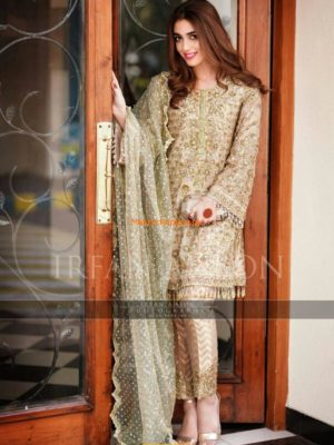 Irfan Ahson Latest Chiffon Embroidered Collection Replica