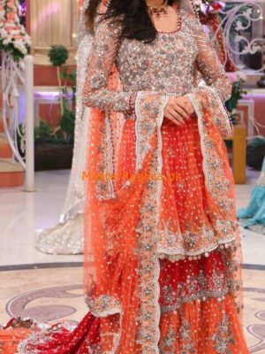 Kashees Latest Embroidered Net Bridal Collection Replica