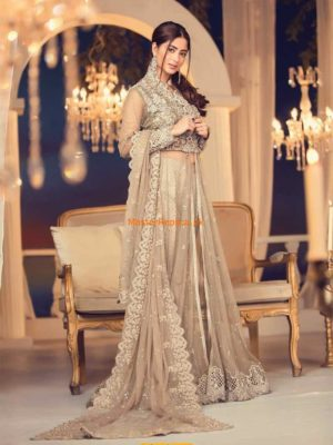 Maria B. Latest MCT-5 Embroidered Net Collection 2018 Replica