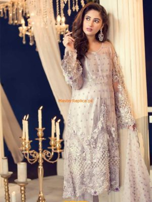 Maria B. Latest MCT-4D Embroidered Net Collection Replica