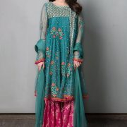 Maria B.Latest Embroidered Chiffon Bridal Collection Replica