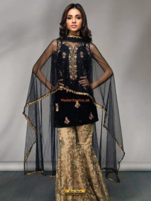 Mina Hassan Latest Embroidered Velvet Collection Replica