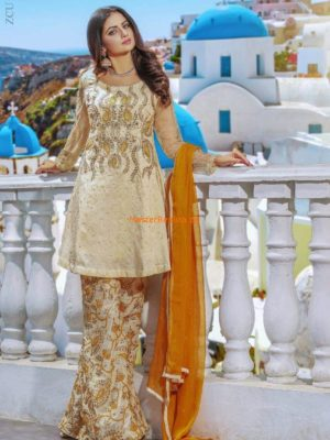 Mulaye Latest Embroidered Chiffon Designer Collection Replica