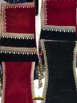 Luxury Winter Four Sided Velvet Embroidered Shawls Collection