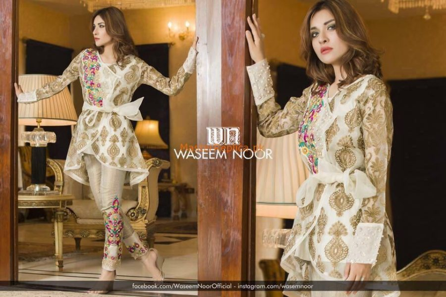 Waseem Noor Latest Embroidered Collection 2018 Replica