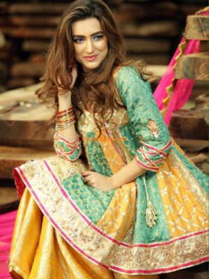 Zahra Ahmed Luxury Embroidered Silk Collection Replica