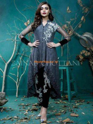 Zainab Chottani Lucury Mettalic Flair Net Collection Replica