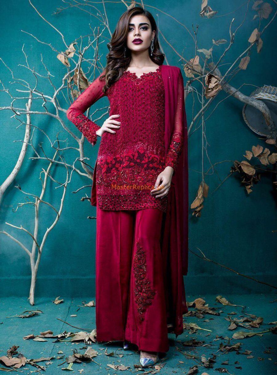 Zainab Chottani Luxury Pret Embroidered Chiffon Collection Replica
