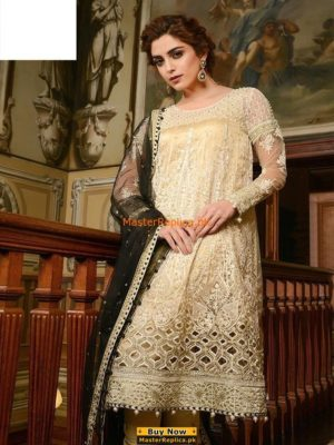 Maria B. Latest Embroidered Chiffon Collection -18 Replica