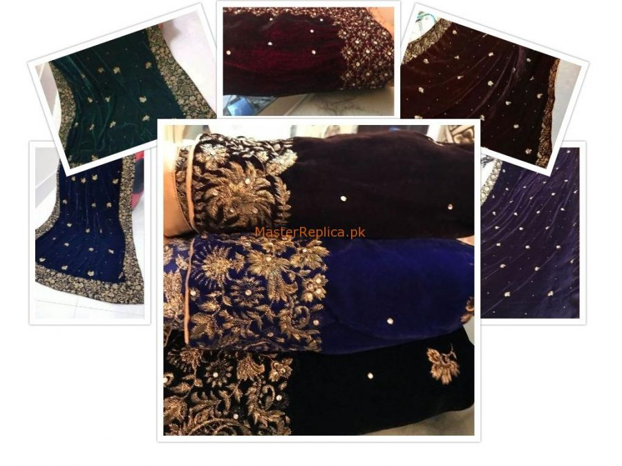 Luxury Velvet 2.7 yards Embroidered Shawls Collection
