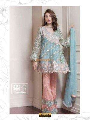 Baroque Latest FMM-02 Embroidered Chiffon Collection Replica