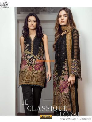 Baroque Latest Enchant Embroidered Chiffon Collection Replica