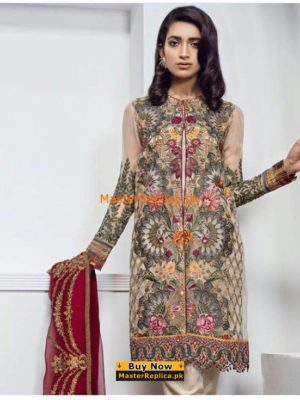 Baroque Latest Embroidered Chiffon Collection Replica