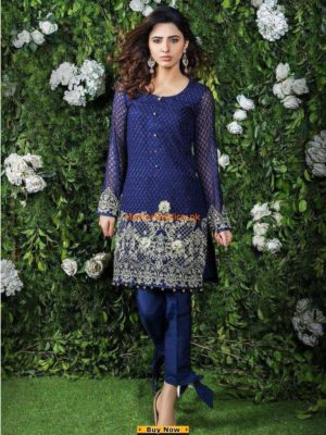 Gulaal Latest Embroidered Chiffon Kurti Collection Replica