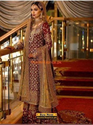 Maria B. Latest Bridal Embroidered Chiffon Collection Replica
