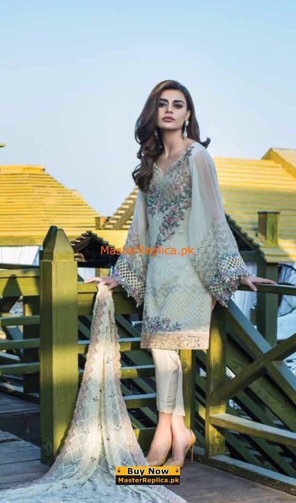 Reemal Khan Latest Embroidered Chiffon Bridal Collection Replica