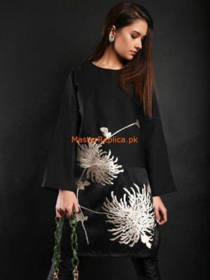 Sana Safinaz Latest Silk Shirt Collection-2018 Replica