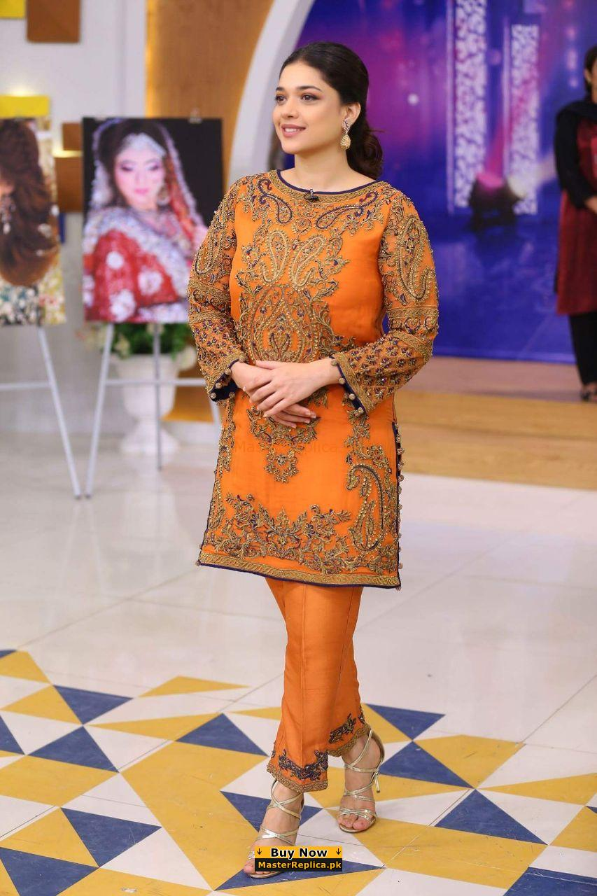 Agha Noor Latest Luxury Embroidered Net Collection Replica