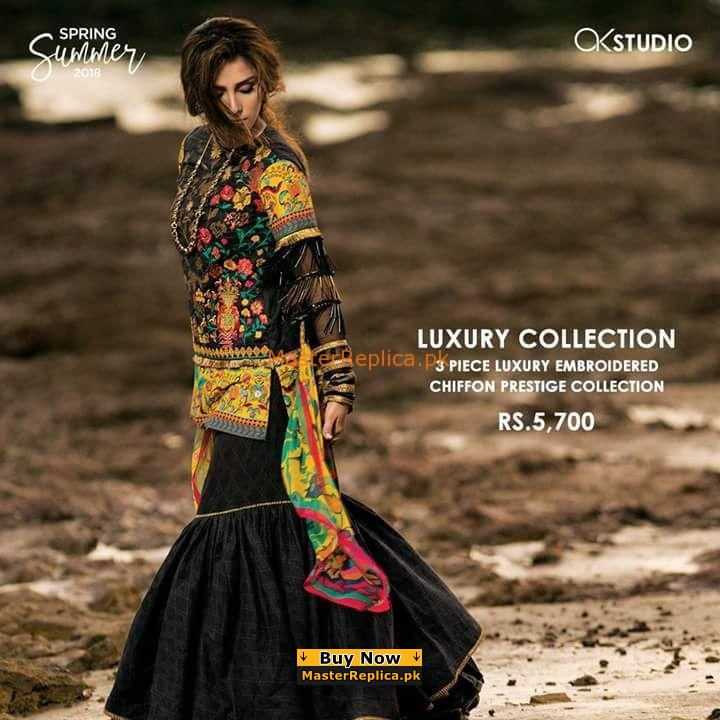 Alkaram Latest Embroidered Lawn Collection 2018 Replica