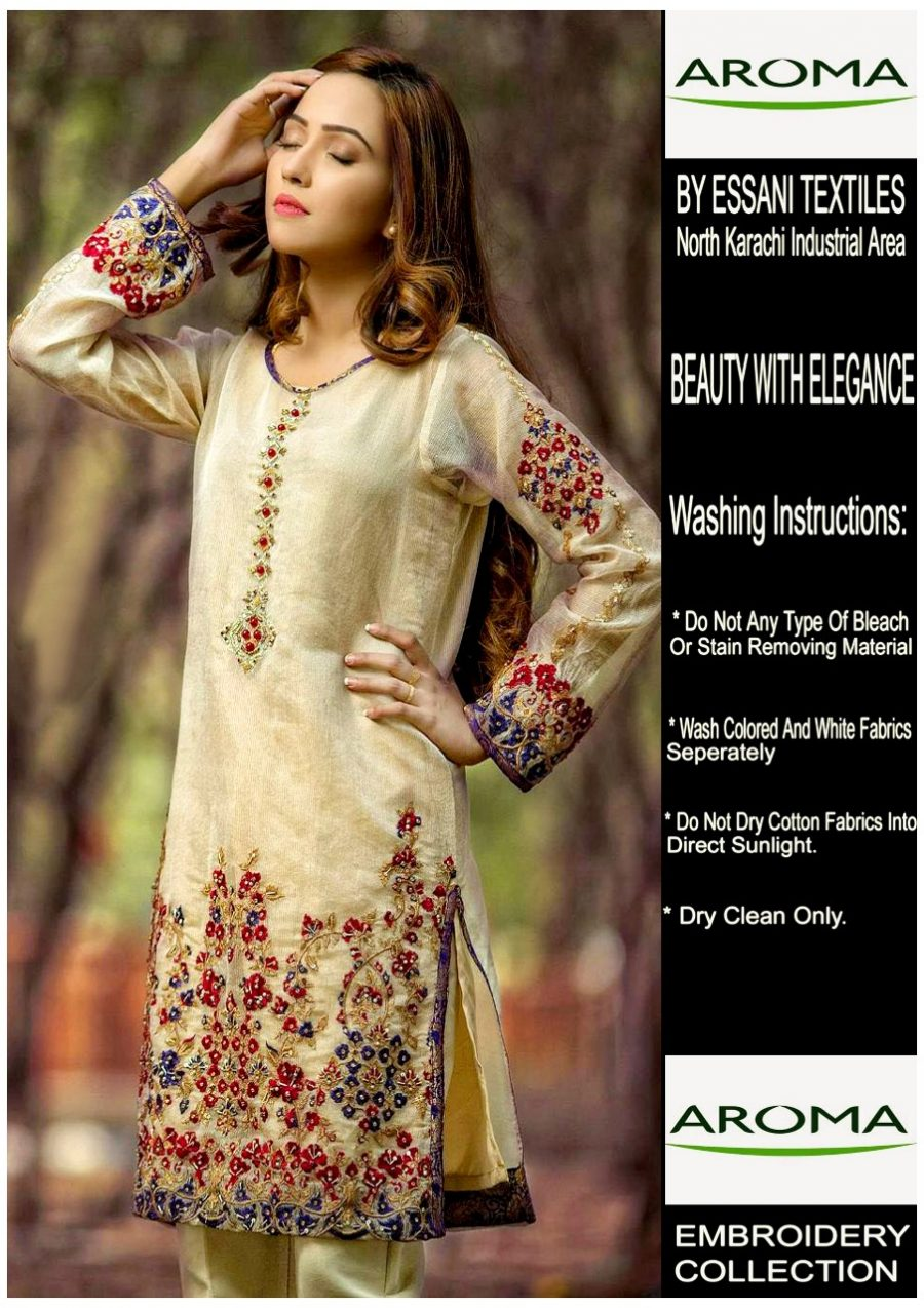 Aroma Latest Luxury Embroidered Chiffon Collection Replica