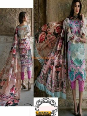 Asifa and Nabeel Latest Embroidered Lawn Collection Replica