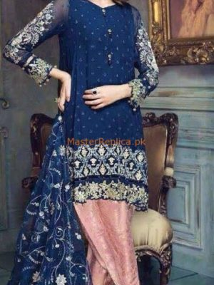 Ayra Luxury Embroidered Chiffon Collection Replica