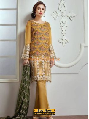 Baroque Jazmin Latest Embroidered Lawn Collection Replica