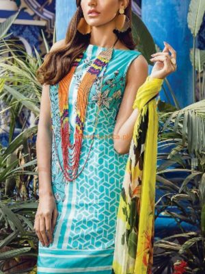 Ethnic Latest Embroidered Lawn Collection 2018 Replica