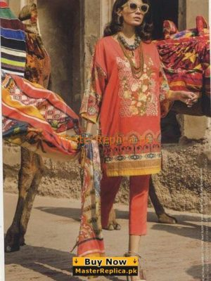 Ethnic Latest Embroidered Lawn Collection Replica