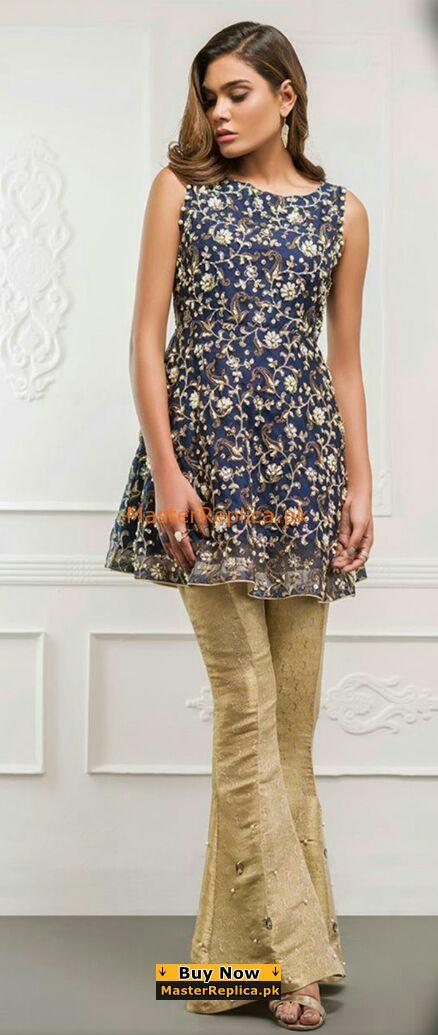 Fiza Saleem Latest Embroidered Chiffon Collection Replica