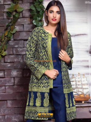 Gul Ahmed Luxury Embroidered Designer Shirt Replica