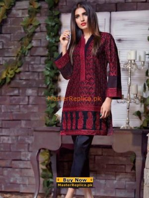 Gul Ahmed Latest Embroidered Designer Shirt Replica