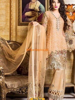 Iznik Luxury Embroidered Chiffon Collection Replica