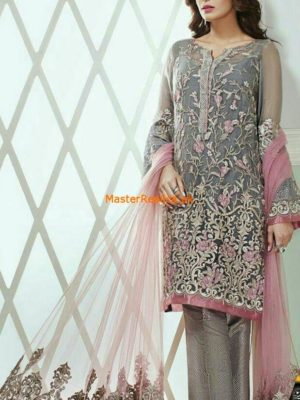 Jazmin Luxury Embroidered Chiffon Collection Replica