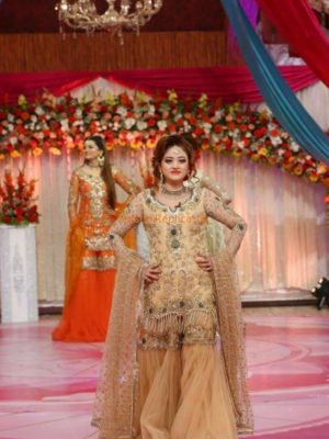 Kashees Luxury Embroidered Net Bridal Collection Replica