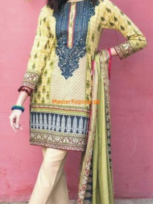 Khaadi Latest Embroidered Lawn Collection 2018 Replica