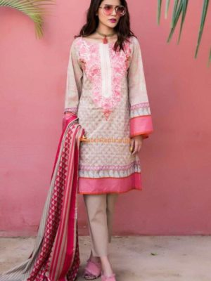 Khaadi Luxury Embroidered Lawn Collection Replica