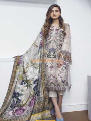 Baroque Latest Embroidered Lawn Collection 2018 Replica
