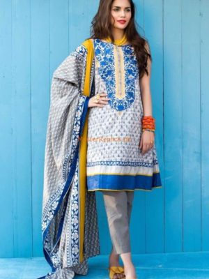 Khaadi Latest Embroidered Lawn Collection Replica 2018