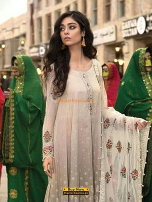 Maria B. Luxury Embroidered Lawn Collection 2018 Replica