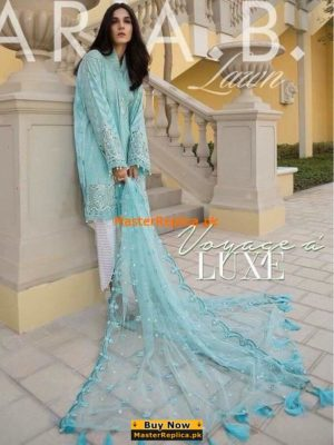 Maria B.Latest Embroidered Lawn Collection 2018 Replica