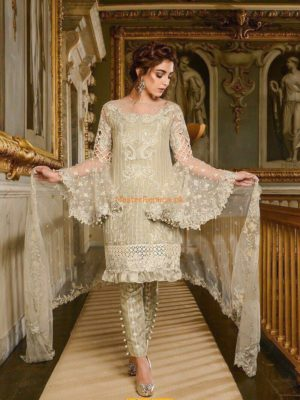 Maria B Latest Embroidered Ivory (BD-1210) Collection Replica