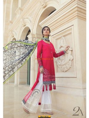 Maria B. Latest Embroidered Lawn Collection 2018 Replica