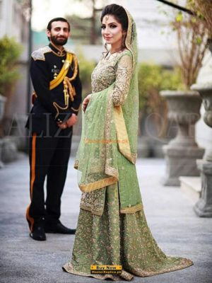 Mehrunisa Latest Wedding Embroidered Chiffon Collection Replica