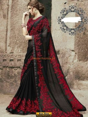 Myntra Luxury Embroidered Chiffon Saree Collection Replica