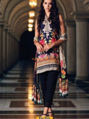 Nouran Luxury Embroidered Lawn Collection Replica