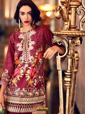 Nouran Latest Embroidered Lawn Collection 2018 Replica
