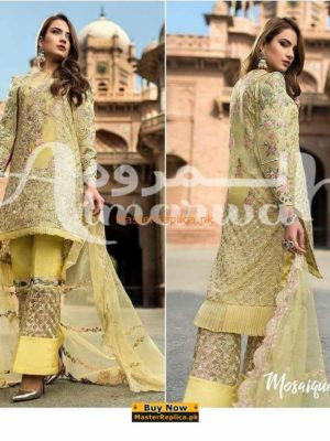 Sadia Mirza Latest Embroidered Chiffon Collection Replica