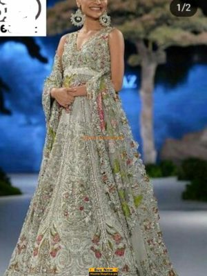 Sana Safinaz Luxury Embroidered Net Bridal Collection Replica
